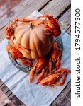 Boiled Crayfish And Pumpkin On...