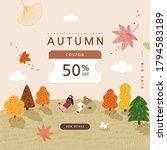 autumn shopping event...   Shutterstock .eps vector #1794583189