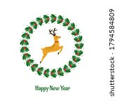 colorful christmas card with... | Shutterstock .eps vector #1794584809