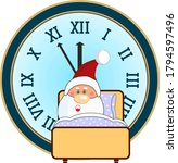 santa claus overslept and was... | Shutterstock .eps vector #1794597496