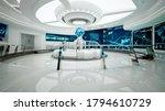 Command center, interior design, 3D rendering, control room