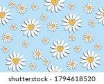 pink daisy pattern daisy... | Shutterstock .eps vector #1794618520