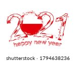 happy new 2021 year with flag... | Shutterstock .eps vector #1794638236