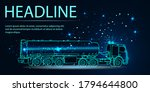 oil truck. fuel tanker. 3d... | Shutterstock .eps vector #1794644800