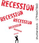 recession text raining down on... | Shutterstock .eps vector #1794647860