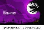 creepy halloween background... | Shutterstock .eps vector #1794649180