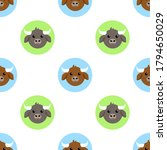 vector illustration seamless... | Shutterstock .eps vector #1794650029