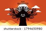 creepy halloween background... | Shutterstock .eps vector #1794650980