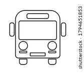 school bus outline flat icon on ... | Shutterstock .eps vector #1794651853