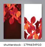 autumn leaves flyer background... | Shutterstock .eps vector #1794654910