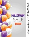 halloween sale flyer background ... | Shutterstock .eps vector #1794655066