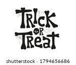 trick or treat text in cobweb... | Shutterstock .eps vector #1794656686
