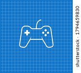 blue banner with game pad icon. ... | Shutterstock .eps vector #1794659830