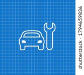blue banner with car service... | Shutterstock .eps vector #1794659836