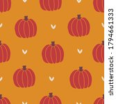 autumn seamless pattern with... | Shutterstock .eps vector #1794661333