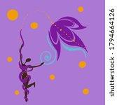 abstraction silhouette women... | Shutterstock .eps vector #1794664126