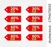 vector illustration set of red...   Shutterstock .eps vector #1794670033