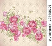 beautiful seamless rose... | Shutterstock .eps vector #179468108