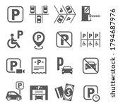 parking area  fine  fee ... | Shutterstock .eps vector #1794687976