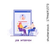 job interview concept. employee ...