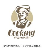 chef in hat logo. restaurant ... | Shutterstock .eps vector #1794695866