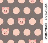 seamless polka dot pattern with ...   Shutterstock .eps vector #1794698656