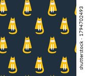 seamless pattern with cute cat. ...   Shutterstock .eps vector #1794702493