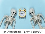 Two Skeletons And Alarm Clock...