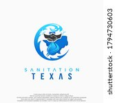 texas sanitation logo. design... | Shutterstock .eps vector #1794730603