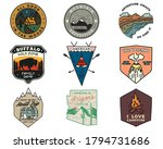 vintage mountain camping badges ... | Shutterstock .eps vector #1794731686