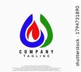 creative gas logo.design vector ... | Shutterstock .eps vector #1794731890