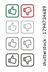 hand icon on white background | Shutterstock .eps vector #1794734689