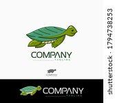 creative turtle logo. design... | Shutterstock .eps vector #1794738253