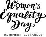 women's equality day lettering... | Shutterstock .eps vector #1794738706