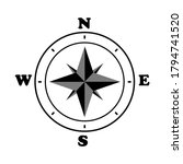 compass icon. wind compass icon.... | Shutterstock .eps vector #1794741520