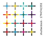 plus icons. vector set of plus... | Shutterstock .eps vector #1794741553