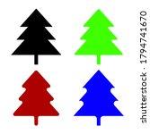 christmas tree icons set.... | Shutterstock .eps vector #1794741670