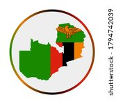 zambia icon. shape of the... | Shutterstock .eps vector #1794742039