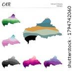 set of vector maps of car.... | Shutterstock .eps vector #1794742060