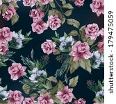 seamless floral pattern with of ...   Shutterstock .eps vector #179475059