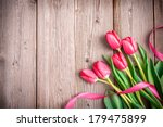Pink Tulips With A Bow On...