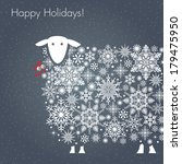 happy holidays. greeting card.... | Shutterstock .eps vector #179475950