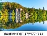 sandstone rock towers reflected ...   Shutterstock . vector #1794774913