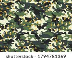 camouflage print with geometric ... | Shutterstock . vector #1794781369