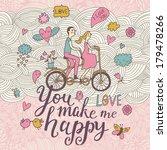 you make me happy. romantic... | Shutterstock .eps vector #179478266