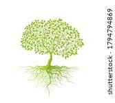 trees isolated on white...   Shutterstock .eps vector #1794794869