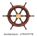 wooden helm isolated on white... | Shutterstock . vector #179479778