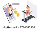 running simulator. isometric... | Shutterstock .eps vector #1794800500