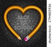 back to school. yellow graphite ...   Shutterstock .eps vector #1794805936