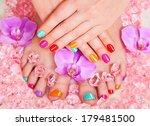manicure and pedicure. body...   Shutterstock . vector #179481500